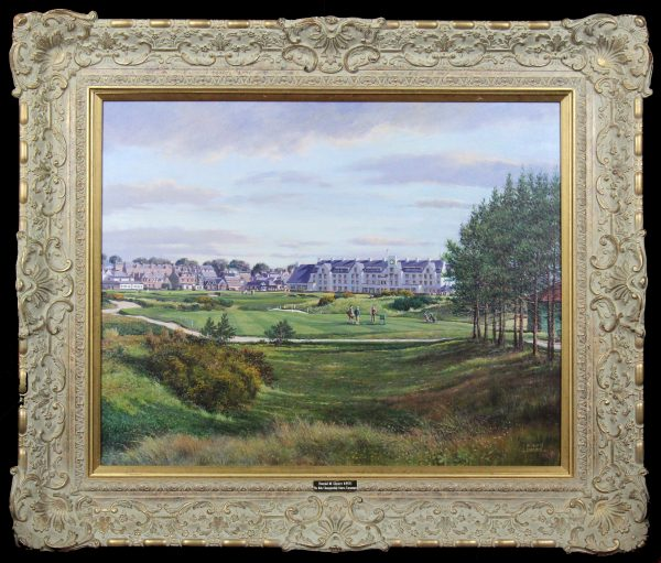 Donald.Shearer.Carnoustie.The.16th.Championship.Course.oils.24x30._FRAMED