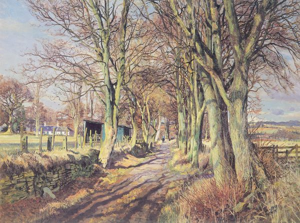 James McIntosh Patrick_Country Lane, Perthshire_17x23