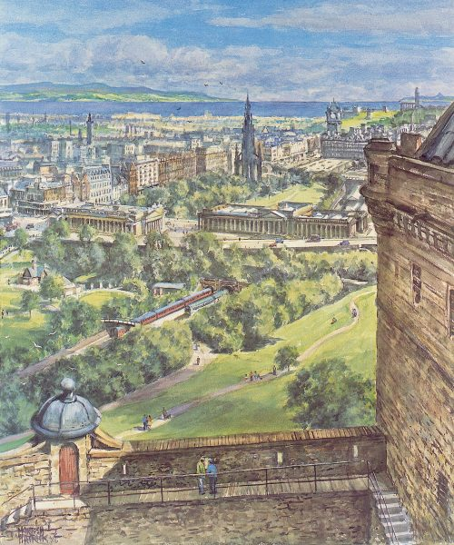 James McIntosh Patrick_Edinburgh from the Battlements_23x19