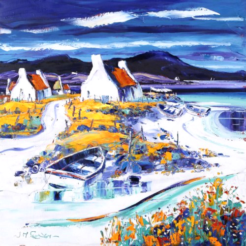 Jean Feeney_Boats on the Shore, Lewis_17x17