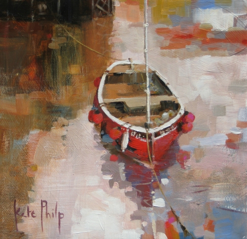 Kate Philp_Little Red Boat_9x9