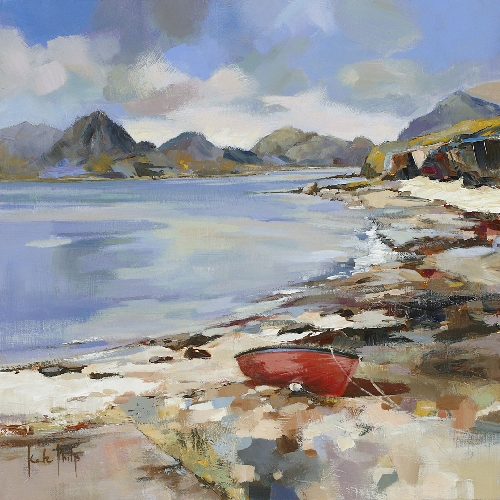 Kate Philp_Red Boat, Elgol_9x9
