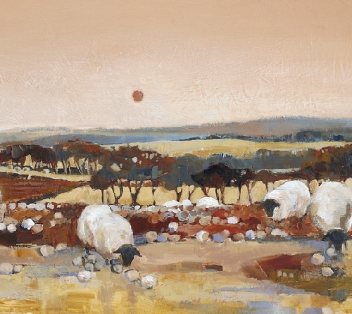 Kate Philp_Sheep at Dusk_11x22