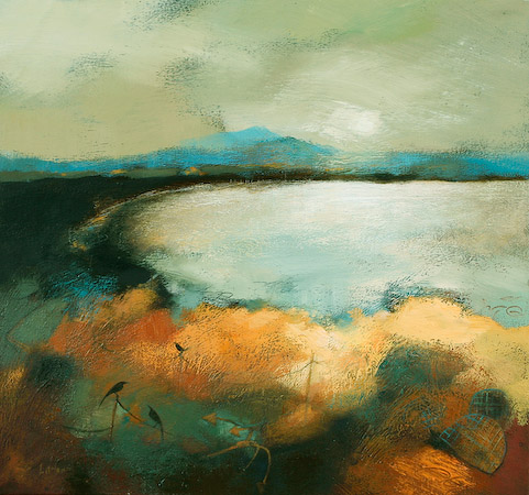 Lesley McLaren_Across The Bay_19x19.75