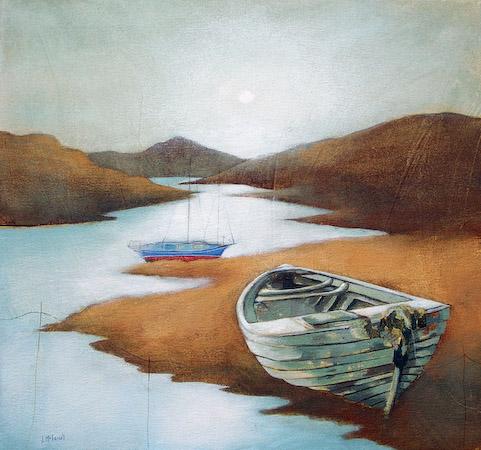 Lesley McLaren_Boats at Dawn_8.5x9