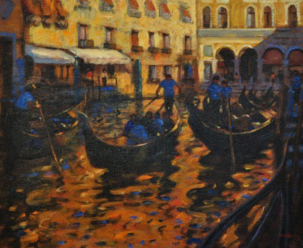 John Mackie_Evening Sunlight, Venice_Oils_20x24_2500