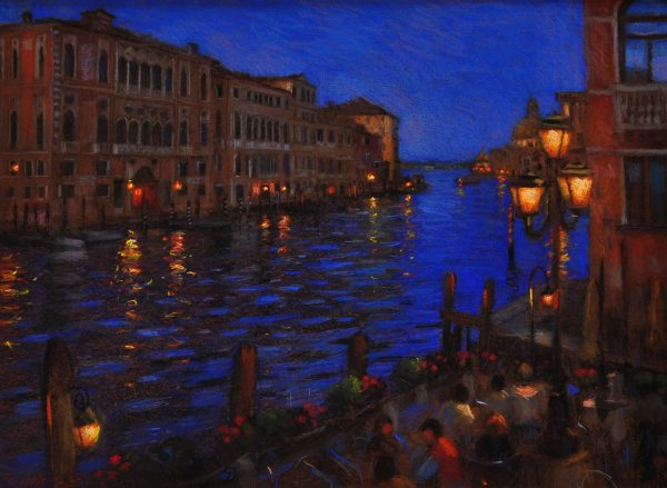 John Mackie_Venice By Night_Pastels_23x31_1750