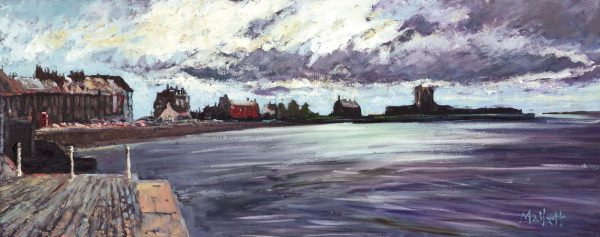 TIMMY MALLETT_Broughty Ferry Sunlight_30X12_OIL ON BOARD