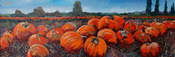 TIMMY MALLETT_Pumpkins 12x36 000760