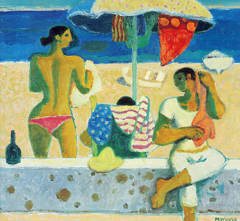 Alberto Morroco_Bathers Drying_14x15