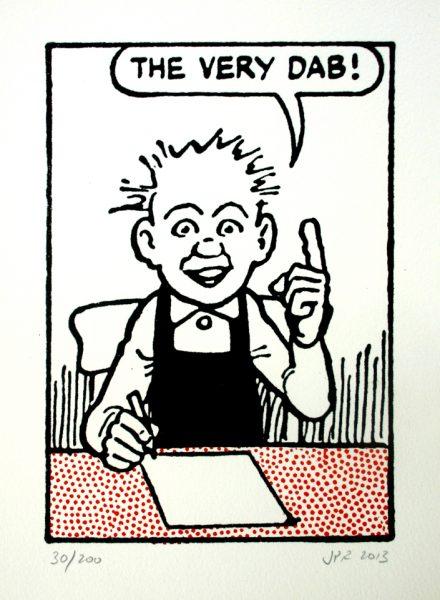 John Patrick Reynolds_Comic Art_Our Wullie says The very dab!