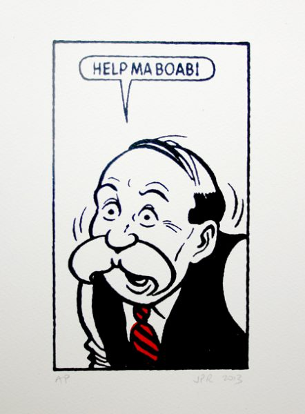 John Patrick Reynolds_Comic Art_Paw Broon says Help ma boab!