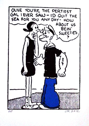 John Patrick Reynolds_Comic Art_Popeye's first pass at Olive Oyl