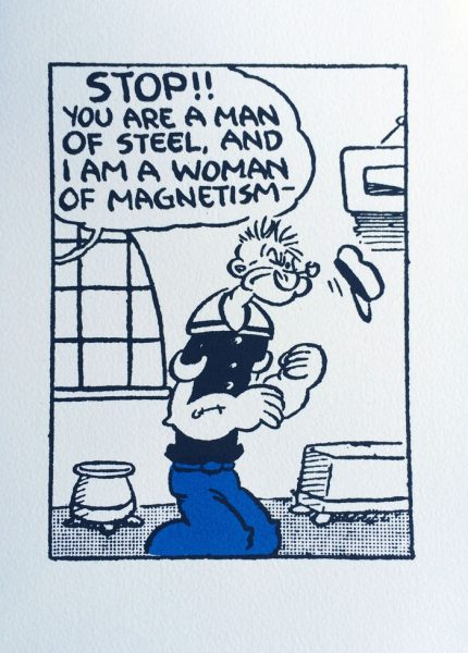 John Patrick Reynolds_Comic Art_Popeye Is Attracted by Female Magnetism