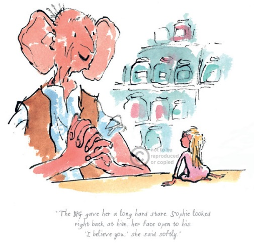 Roald Dahl_The BFG Gave Her a Long Hard Stare