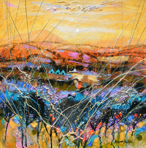 Deborah Phillips_Angus Tapestry_Hand Embellished Signed Limited Edition_5x5