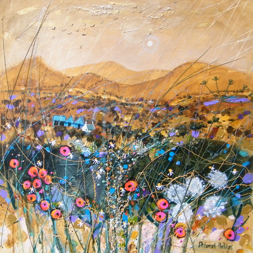 Deborah Phillips_Cairngorm Gold_Hand Embellished Signed Limited Edition_15x15