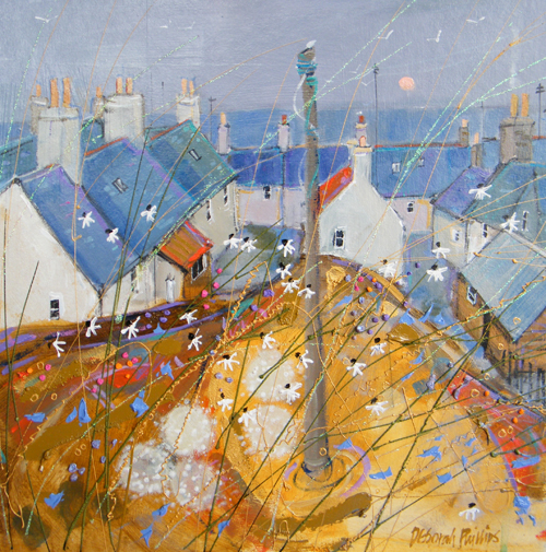 Deborah Phillips_Portsoy Daisies_Hand Embellished Signed Limited Edition_15x15
