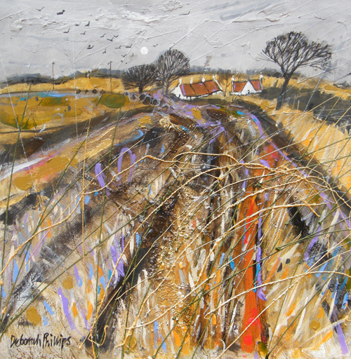 Deborah Phillips_Stubbley Field at Abercrombie_Hand Embellished Signed Limited Edition_15x15