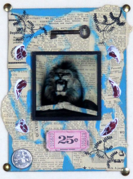 Ruby Rae_Into the Lions Den_Mixed Media & Assemblage_10x8.5