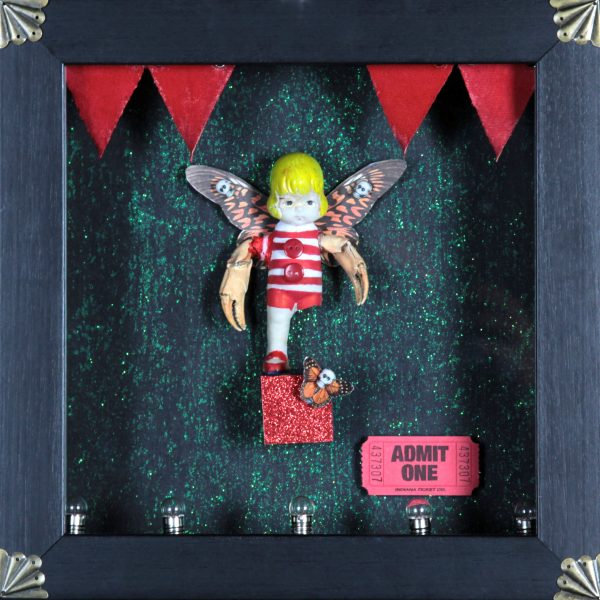 Ruby Rae_Crab Girl_Mixed Media & Assemblage_10x10
