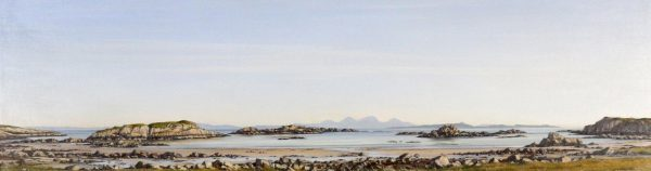 Ian Johnstone_Towards Jura and Colonsay from Uisken, Mull_Oils_7x24