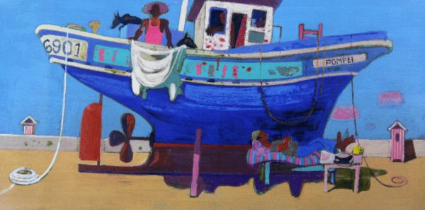 Leon Morrocco_Siesta at the Boatyard_Silkscreen_380x760