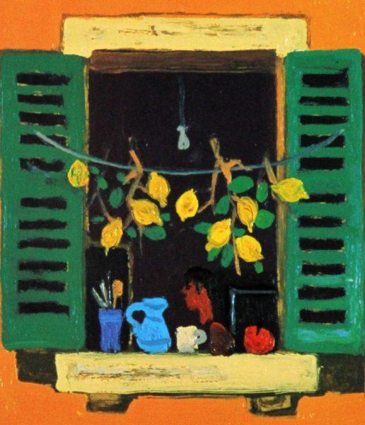 Leon Morrocco_Window, Cotes d'Azur_183x157