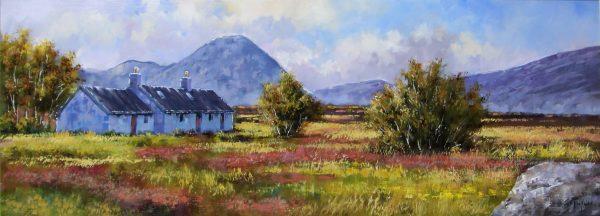 Allan Morgan_Summer, Blackrock Cottage, Glencoe_Oils_15x40_1200