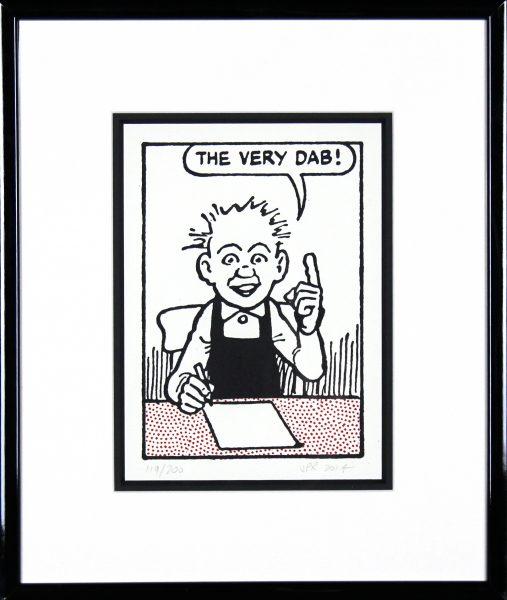 John Patrick Reynolds_Oor Wullie, The Very Dab_15x13_Framed