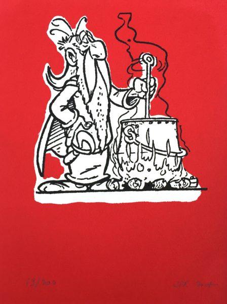 John Patrick Reynolds_Comic Art_Getafix Brews Magic Potion