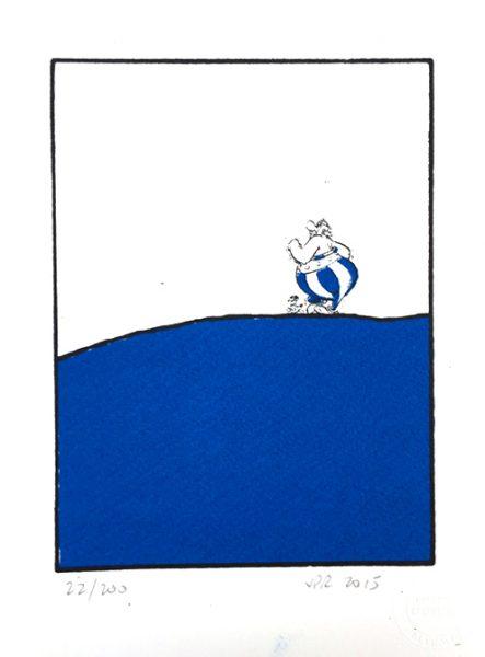 John Patrick Reynolds_Comic Art_Obelix Walks Dog