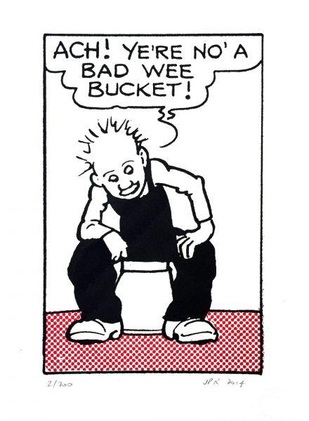 John Patrick Reynolds_Comic Art_Oor Wullie Talks to Bucket