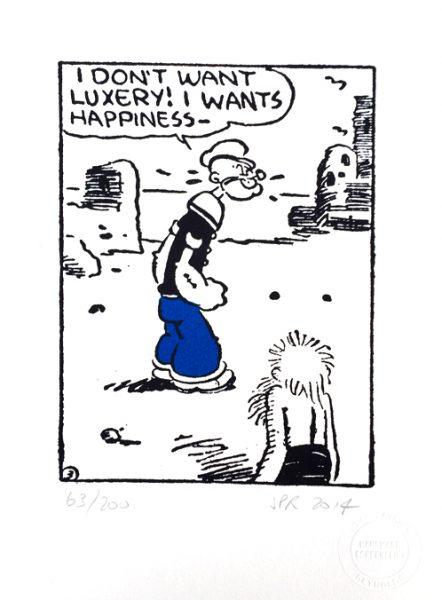John Patrick Reynolds_Comic Art_Popeye Wants Happiness