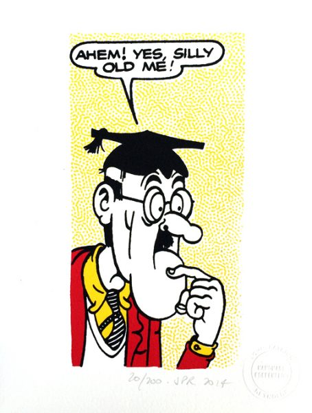 John Patrick Reynolds_Comic Art_Teacher from Bash Street says Silly old me