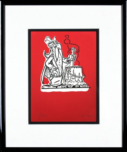 John Patrick Reynolds_Getafix Brews Magic Potion_15x13_Framed