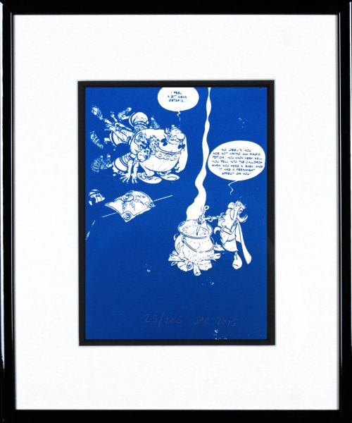 John Patrick Reynolds_Obelix Demands Magic Potion_15x13_Framed