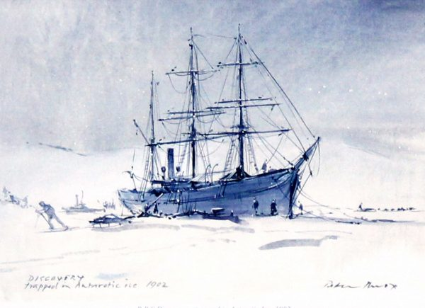 Peter Knox_RSS Discovery, Trapped in Antarctic Ice_6x8
