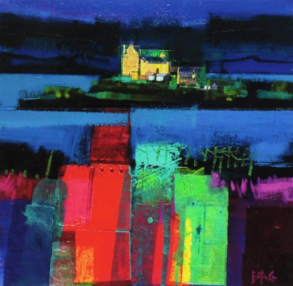 Francis Boag_Duart Castle Mull_Signed Limited Edition Print Giclee_Image 15x15