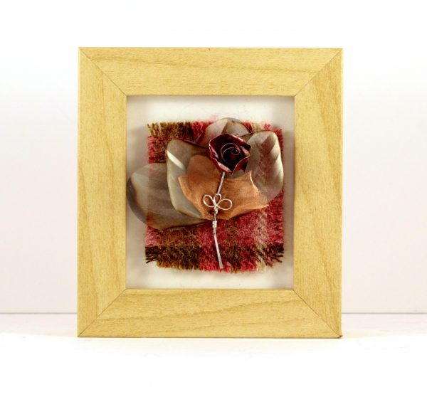Handmade Wire Rose Mini Frame_4.5x4x1.5