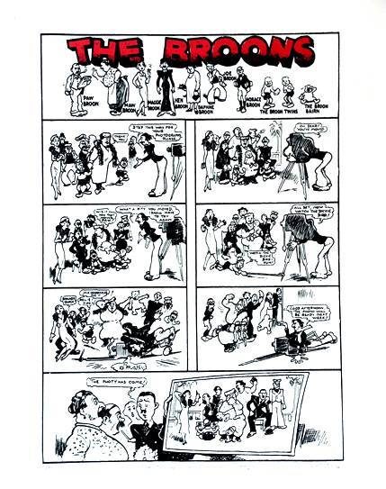 The Broons first strip in 1936