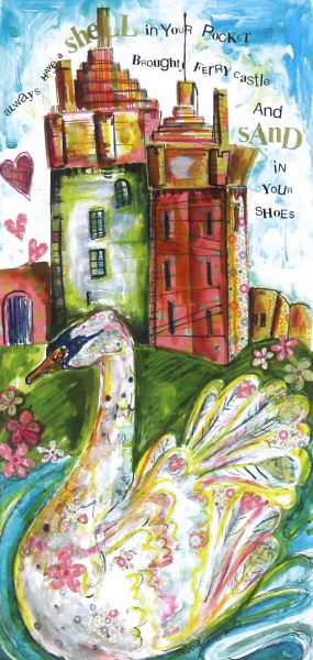 Debbie Hill_Signed Print_Swans At Castle Green_Image12.5x6