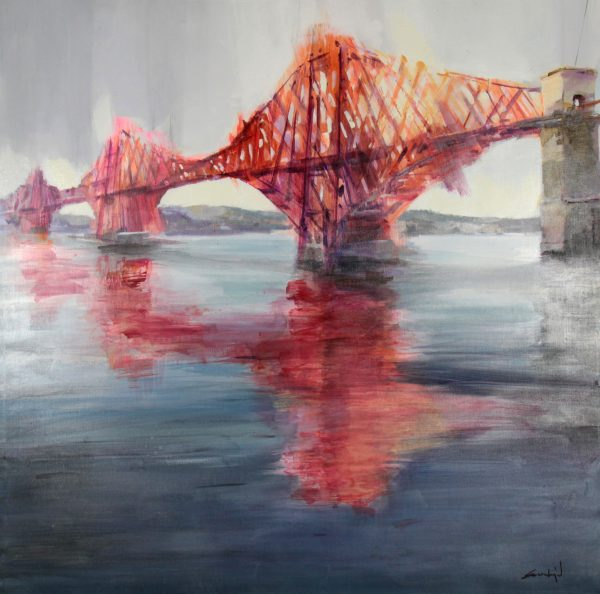 David Escarabajel_Original Oils_Forth Bridge_Unframed_39x39.J (2)