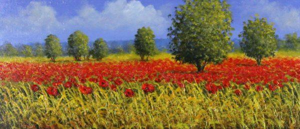 David Short_Original_Poppy Field II_image 6.5x15