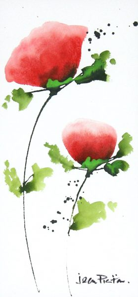 Jean Picton_Poppy Splash X_Original Watercolour_Img 14 x 7