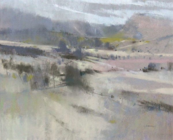 Oscar Goodall RSW_Original Pastels_ Hills and Carse_Image 10.5x12.75