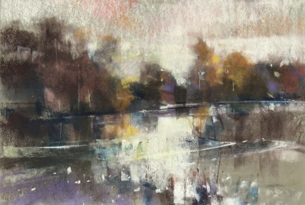Oscar Goodall_Evening River_Pastels_13.5x20