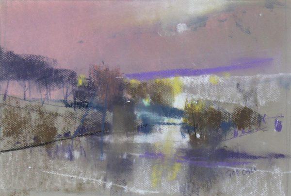 Oscar Goodall_River Earn, Dusk_Pastels_9.5x13.75