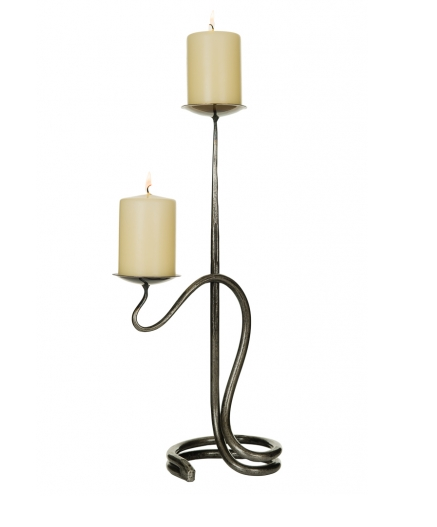 Double Round Candlestick with bowls_85_18inch 6 base