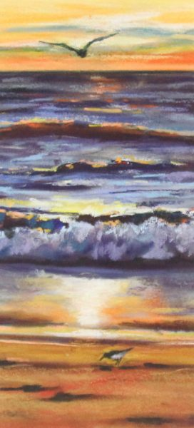 Gina Wright_SIgned Limited Edition Print_Waves At Sunset_image 16x7.5